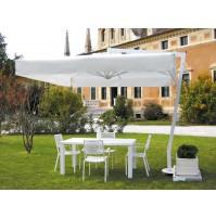 AFRODITE ombrellone Acrilico 100% colorato/bianco