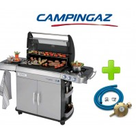 BARBECUE A GAS ANTIFUMO CAMPINGAZ 4 SERIES RBS EXS CON VETRO + KIT REGOLATORE
