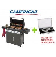 BARBECUE A GAS CAMPINGAZ 4 SERIES CLASSIC LS PLUS + VALIGETTA UTENSILI ACCIAIO