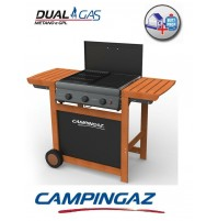 BARBECUE A GAS GPL ADELAIDE WOODY 3 DUAL GAS GPL o METANO MARCHIO CAMPINGAZ