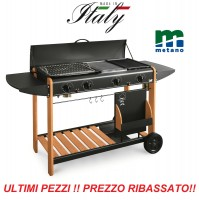 BARBECUE A METANO PIASTRA GAS MILLENIUM 2000 POTENZA 11,6 KW  - MADE IN ITALY