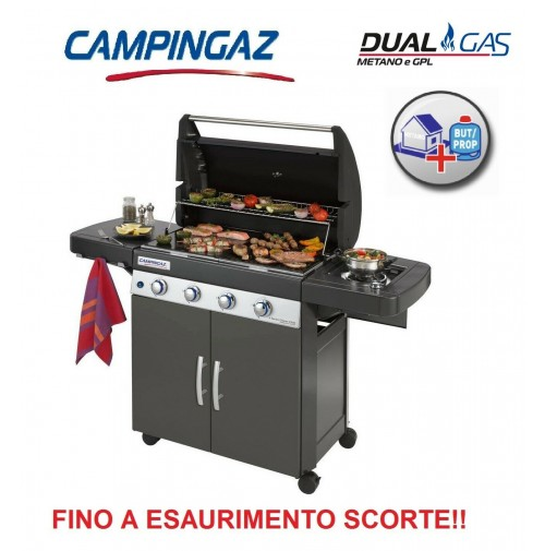 BARBECUE DUAL GAS 4 SERIES CLASSIC LS PLUS DARK - ALIMENTAZIONE GPL O METANO