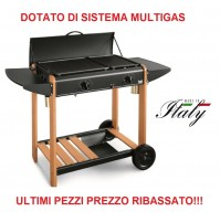 BARBECUE MIAMI 340 BST PIASTRA GAS 6,2 KW MULTIGAS A GPL O METANO MADE IN ITALY