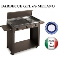 BARBECUE PIASTRA A GAS 824/A PERSONAL 3 FUOCHI MULTIGAS GPL METANO MADE ITALY
