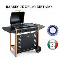 BARBECUE PIASTRA A GAS BERNA 296 POTENZA 9 KW MULTIGAS GPL METANO MADE IN ITALY