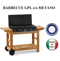 BARBECUE PIASTRA A GAS DUBAI 923  MULTIGAS GPL METANO 12,8 KW BST MADE IN ITALY