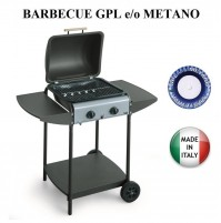 BARBECUE PIASTRA A GAS EUROLAVA SINGLE  281 GPL METANO 6,4 KW MADE IN ITALY