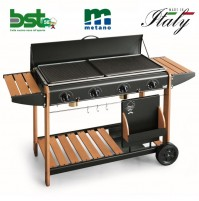 BARBECUE PIASTRA A GAS METANO VANCOUVER 2008 POTENZA 12,8 KW MADE IN ITALY - BST