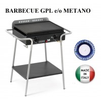 BARBECUE PIASTRA A GAS TOLEDO 562 MULTIGAS GPL METANO POTENZA 6 KW MADE IN ITALY