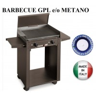 BARBECUE PIASTRA GAS 624/A PERSONAL 2 FUOCHI MULTIGAS GPL O METANO MADE ITALY