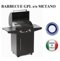 BARBECUE PIASTRA GAS 626/A PERSONAL 2 FUOCHI MULTIGAS GPL o METANO  MODULABILE