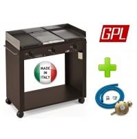 BARBECUE PIASTRA GAS 823/A PERSONAL 3 FUOCHI MODULABILE + KIT REGOLATORE ITALIA