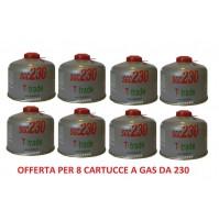 BOMBOLETTA CARTUCCIA A GAS A FILETTO CON 230 GRAMMI DI GAS ** 8 PEZZI **