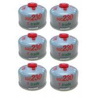 BOMBOLETTA CARTUCCIA A GAS A FILETTO CON 230 GRAMMI DI GAS PER 6 PEZZI