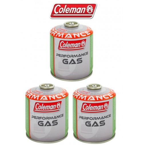 BOMBOLETTA CARTUCCIA GAS COLEMAN c300 performance FILETTO 240 g GAS * 3 PEZZI *