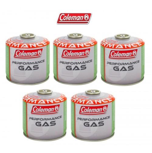 BOMBOLETTA CARTUCCIA GAS COLEMAN c300 performance FILETTO 240 g GAS * 5 PEZZI *