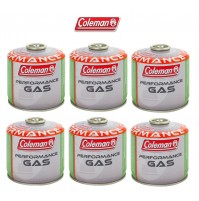 BOMBOLETTA CARTUCCIA GAS COLEMAN c300 performance FILETTO 240 g GAS * 6 PEZZI *
