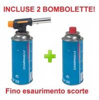 CANNELLO MINI BRUCIATORE SALDATORE FIAMMA OSSIDRICA + 2 CARTUCCE GAS CAMPINGAZ