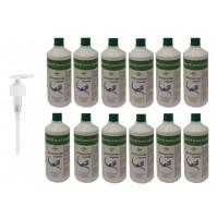Detergente per mani elimina i batteri - 12 bottiglie da 1000 ml + 1 erogatore