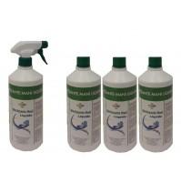 Detergente per mani spray - elimina i batteri - 4 bottiglie + 1 erogatore Tigger