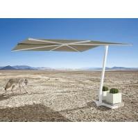 FLAT ombrellone basculante Acrilico 100% colorato/bianco