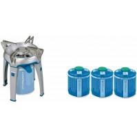 FORNELLO A GAS CAMPING BIVOUAC PZ CAMPINGAZ DA 2600 W + 3 CARTUCCE DA 450 GR
