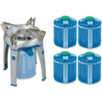 FORNELLO A GAS CAMPING BIVOUAC PZ CAMPINGAZ DA 2600 W + 4 CARTUCCE DA 450 GR