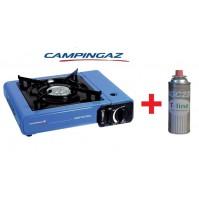 FORNELLO DA TAVOLO CAMP BISTRO IDEALE CAMPEGGIO + 1 CARTUCCIA GAS DA 250 GR