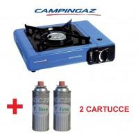 FORNELLO DA TAVOLO CAMP BISTRO IDEALE CAMPEGGIO + 2 CARTUCCE GAS DA 250 GR
