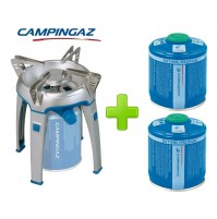 FORNELLO FORNELLINO A GAS BIVOUAC PZ CAMPINGAZ + 2 CARTUCCE CV300 DA 240 GRAMMI