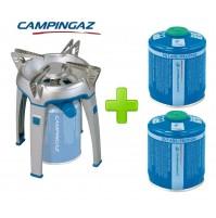 FORNELLO FORNELLINO A GAS BIVOUAC PZ CAMPINGAZ + 2 CARTUCCE CV470 DA 450 GRAMMI