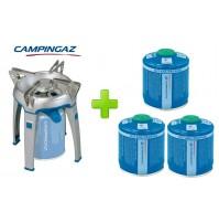 FORNELLO FORNELLINO A GAS BIVOUAC PZ CAMPINGAZ + 3 CARTUCCE CV300 DA 240 GRAMMI