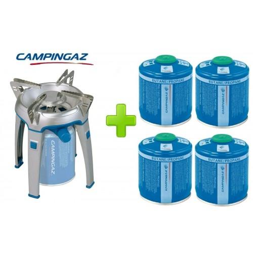 FORNELLO FORNELLINO A GAS BIVOUAC PZ CAMPINGAZ + 4 CARTUCCE CV300 DA 240 GRAMMI