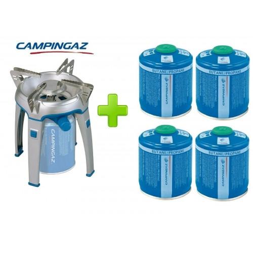 FORNELLO FORNELLINO A GAS BIVOUAC PZ CAMPINGAZ + 4 CARTUCCE CV470 DA 450 GRAMMI