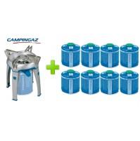 FORNELLO FORNELLINO A GAS BIVOUAC PZ CAMPINGAZ + 8 CARTUCCE CV300 DA 240 GRAMMI