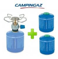 FORNELLO FORNELLINO A GAS BLEUET MICRO PLUS 1.230 W CAMPINGAZ + 2 PEZZI CV300
