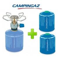 FORNELLO FORNELLINO A GAS BLEUET MICRO PLUS 1.230 W CAMPINGAZ + 2 PEZZI CV470