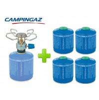 FORNELLO FORNELLINO A GAS BLEUET MICRO PLUS 1.230 W CAMPINGAZ + 4 PEZZI CV300