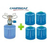FORNELLO FORNELLINO A GAS BLEUET MICRO PLUS 1.230 W CAMPINGAZ + 4 PEZZI CV470