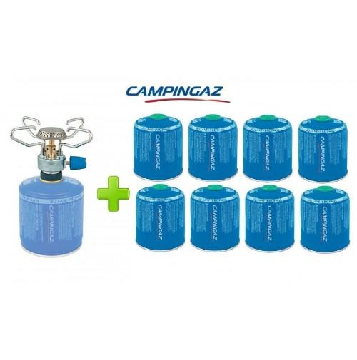 FORNELLO FORNELLINO A GAS BLEUET MICRO PLUS 1.230 W CAMPINGAZ + 8 PEZZI CV470