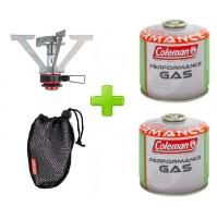 FORNELLO FORNELLINO A GAS STOVE FYRELITE START COLEMAN ALPINISMO + 2 CARTUCCE