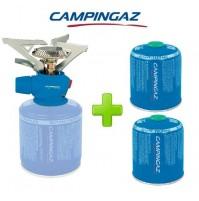 FORNELLO FORNELLINO A GAS TWISTER PLUS PZ CAMPINGAZ + 2 PEZZI CARTUCCIA CV470