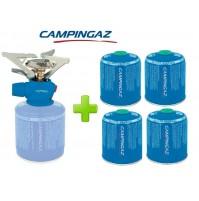 FORNELLO FORNELLINO A GAS TWISTER PLUS PZ CAMPINGAZ + 4 PEZZI CARTUCCIA CV470