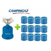FORNELLO FORNELLINO GAS CAMPING STOVE 206 S 1230 W CAMPINGAZ + 12 CARTUCCE C206