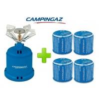 FORNELLO FORNELLINO GAS CAMPING STOVE 206 S 1230 W CAMPINGAZ + 4 CARTUCCE C206