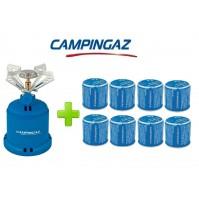FORNELLO FORNELLINO GAS CAMPING STOVE 206 S 1230 W CAMPINGAZ + 8 CARTUCCE C206