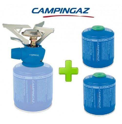 FORNELLO FORNELLINO GAS TWISTER PLUS 2900 W CAMPINGAZ + 2 PEZZI CARTUCCIA CV300