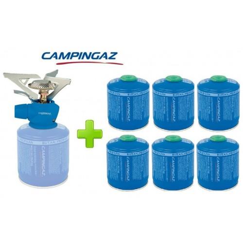 FORNELLO FORNELLINO GAS TWISTER PLUS 2900 W CAMPINGAZ + 6 PEZZI CARTUCCIA CV300
