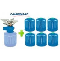 FORNELLO FORNELLINO GAS TWISTER PLUS 2900 W CAMPINGAZ + 6 PEZZI CARTUCCIA CV470