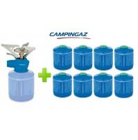 FORNELLO FORNELLINO GAS TWISTER PLUS 2900 W CAMPINGAZ + 8 PEZZI CARTUCCIA CV300